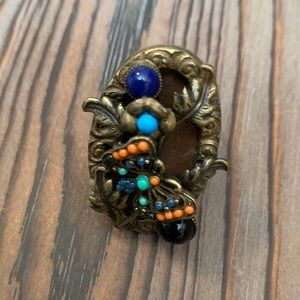 Ollipop Multi Color Butterfly Brass Ring